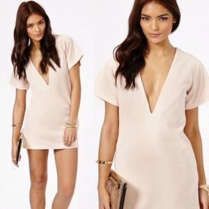 Missguided Scuba V Neck Shift Dress